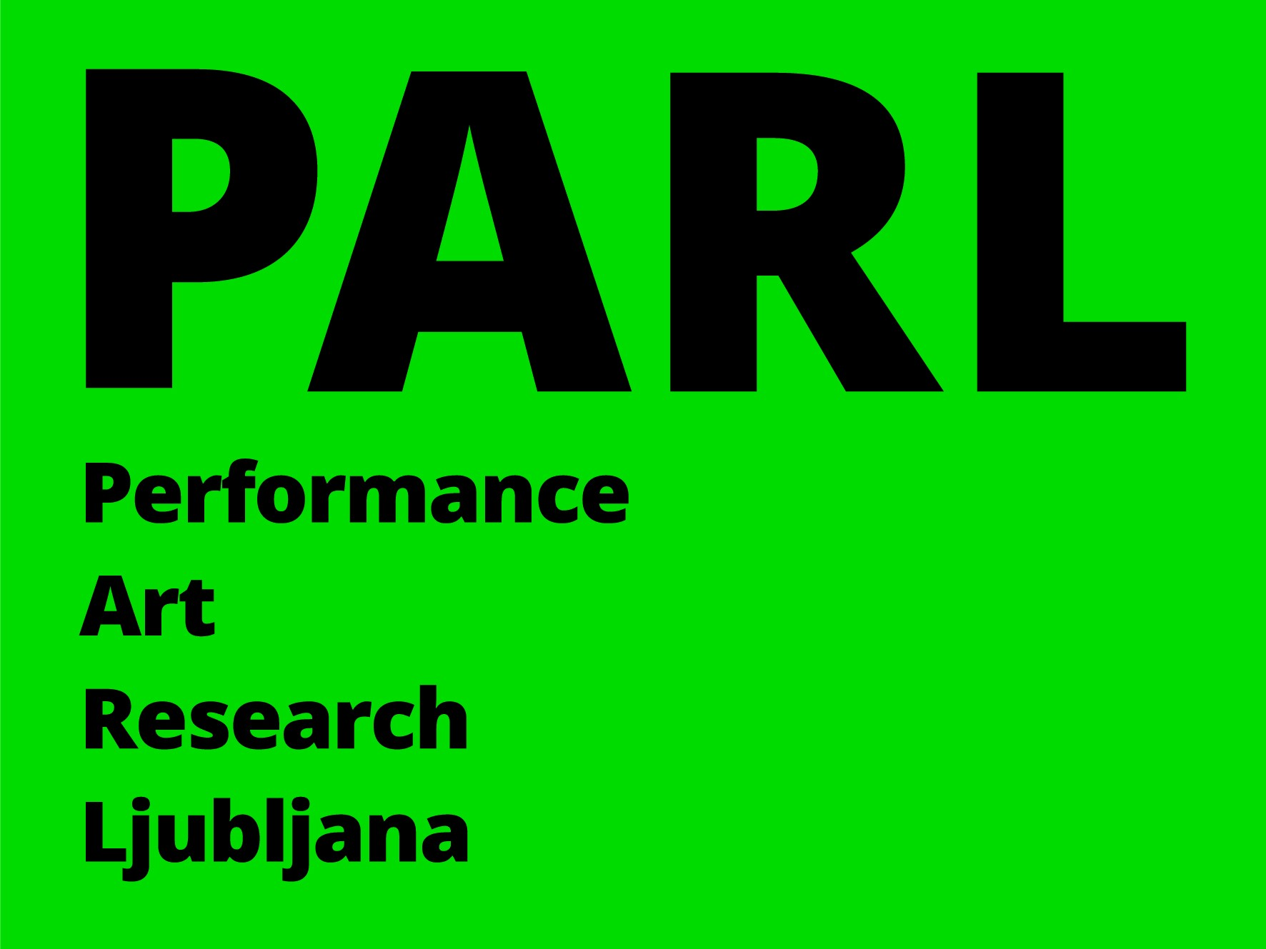 You are currently viewing PARL, Performance Art Research Ljubljana